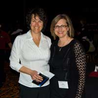 Dr. Suzanne Vernon and Kim McCleary of the CFIDS Association at the Reno Conference
