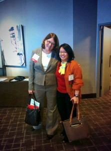 Drs. Nancy Klimas and Lily Chu at the conference. Photo courtesy of Searcher.