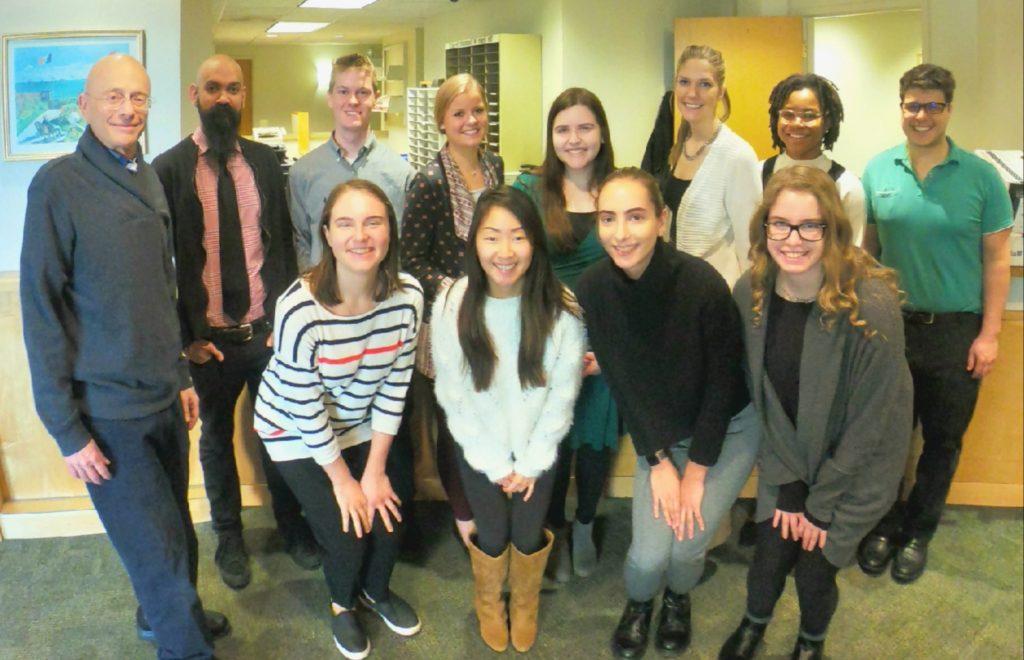 Group photo with Leonard Jason, who studies Myalgic Encephalomyelitis / Chronic Fatigue Syndrome at the Center for Community Research.