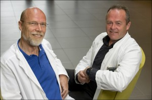 Professor Olav Mella (left) and Dr Oystein Fluge