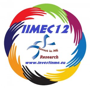 Logo of Invest in ME conference 2012.