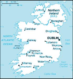 Ireland CIA WFB Map