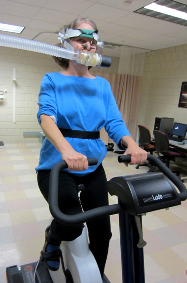 Exercise testing at Dr Keller's lab