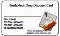 NeedyMeds offers a free drug discount card