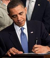 Obama signs health care crop