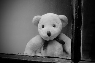 pixabay teddy bear window