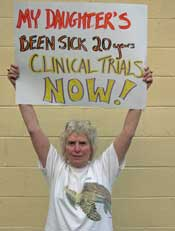 Rivka's Mom Protest for ME/CFS in DC