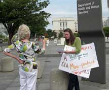 Rivka protests for ME/CFS in DC